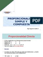 Proporcionalidad Simple y Compuesta