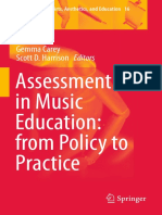 Assessment in Music Education From Policy to Practice (Landscapes the Arts, Aesthetics and Education) 2015