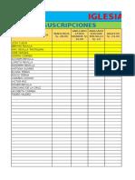 Lista de Suscripciones