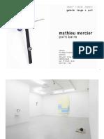 Mathieu Mercier - Some Shows