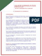 Decreto Supremo Que Aprueba El Reglamento Del Decreto Legislativo Nº 1068 Del Sistema de Defensa Jurídica Del EstadOo