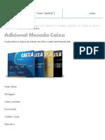 Cartão Adicional Mesada _ Caixa