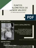 Puntos Cefalometricos de Menor Validez