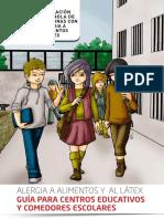 Alergia a Alimentos y Látex Guía Para Centros Educativos y Comedores Escolares AEPNAA