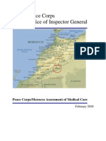 Peace Corps Morocco Assessment of Medical Care (Redacted) Worker Death