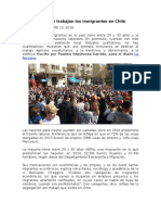 Conozca en Qué Trabajan Los Inmigrantes en Chile