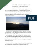 Consejos Para Ir a Chile Por Tierra Desde Venezuela