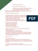 Relaçao Dos Documentos Para a Venda de Imóvel