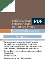 Perencanaan, Pengorganisasian Dan Revisi Pesan-pesan Bisnis
