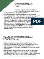 Manfaat Komputer Dalam Pemerintahan