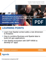 473 Improve Efficiency by Extending Transactional and Analytical Applications With Spatial Capabilities of SAP HANA