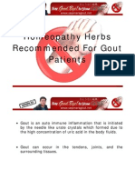 Homeopathy Herbs Recommended for Gout Patients