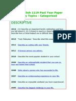 spm english past year paper essay topics spm english 1119 past year paper essay topics docx