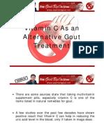 Vitamin C as an Alternative Gout Treatment