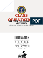 Class Orientation Hrm 116