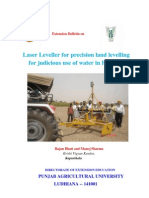 Laser Leveller for Precision Land Levelling-- An Extension Bulletin
