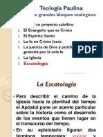 Teologia Paulina 07 La Escatologia