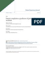 Patient Complaints as Predictorshj