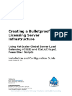 Creating a Bulletproof Citrix Licensing Server Infrastructure