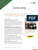 Brochure Training Course Listing v6