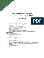 Español - Instrucciones de Uso Unidad de Lectura Digital Adr