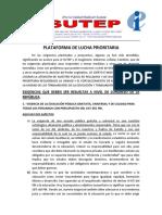 Plataforma Prioritaria II and Final