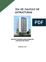 Memoria de Calculo Estructuras Edificio 8 pisos y 3 sotanos