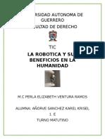 La Robotica y Sus Beneficios en La Humanidad
