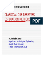 2b. Classical Ore Reserves Methodsss