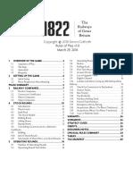 1822 Rules