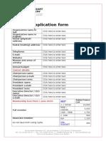 WHF Member Application Form