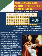 Pedro El Primer Papa