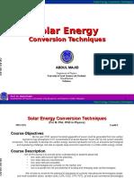 Solar energy conversion techniques.ppt