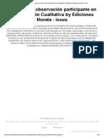 Etnografía y Observación Participante en Investigación Cualitativa by Ediciones Morata -