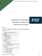 Normas Técnicas Complementarias Para Diseño y Construcción de Estructuras de Concreto