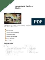 Pizza Fatta in Casa, Rotonda Classica e Rettangolare Al Taglio