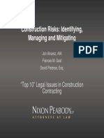 Identifying Managing and Mitigating Construction Risks