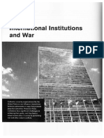 International Institutions and War