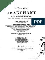 L'Écuyer Tranchant - Bernardi (1845)