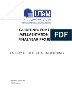 Guidelines for the Implementation of Final Year Project (Ver 3 1)