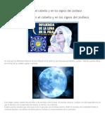 Influencia de La Luna en El Cabello y en Los Signos Del Zodiaco