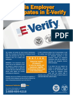 e Verify Poster English