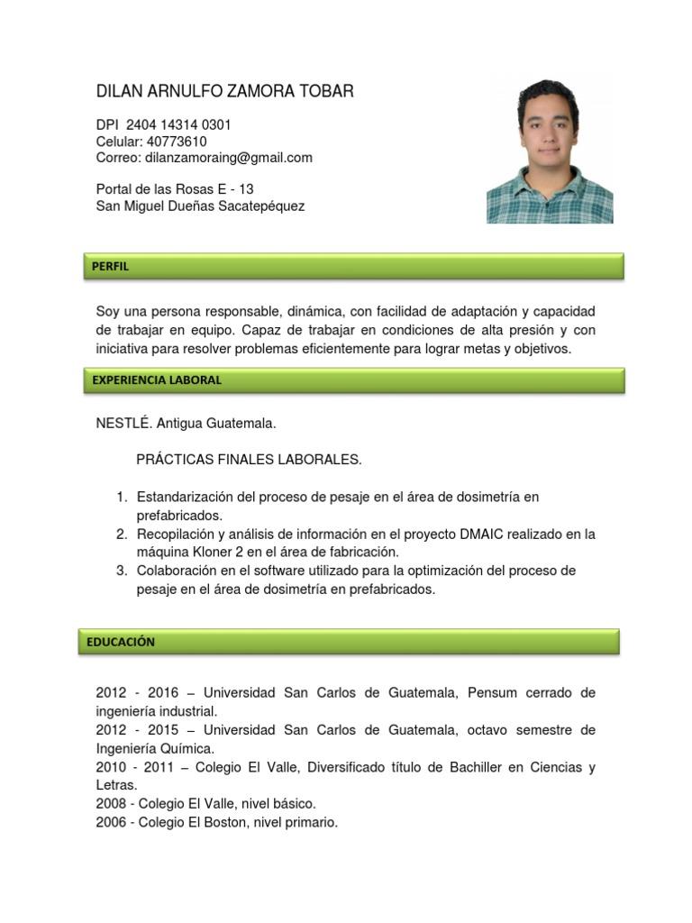 Fantástico Ingeniería Curriculum Vitae Prácticas Objetivas Motivo ...