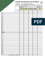 Grade Sheet Blank