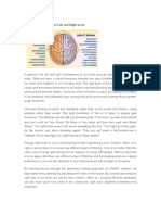 Basic Characteristics of Left and Right Brain