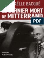 Le Dernier Mort de Mitterrand - Raphaelle Bacque