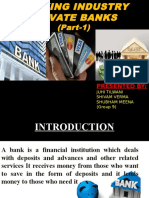 A presentation on banking industry.