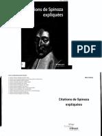 Citations de Spinoza Expliquées PDF