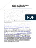 The Relationship between Personality Traits and Political Ideologies.doc