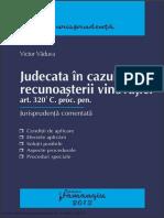 Judecata in Cazul Recunoasterii Vinovatiei p.j. 2013